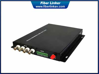 4-ch broadcast HD-SDI Fiber Optic Extender