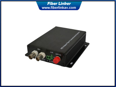 1-ch 3G-SDI Fiber Optic Extender with RS485