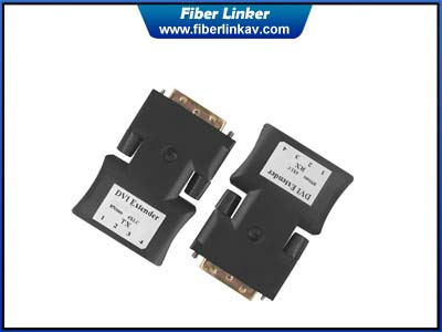 DVI Fiber Converter with 4 LC opitc cable