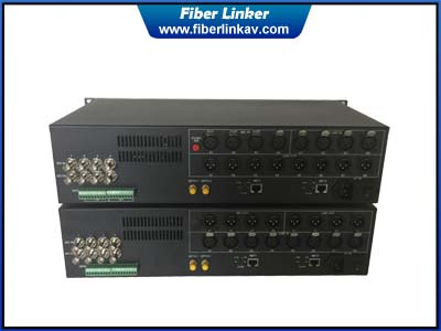 Two-way 3G-SDI Fiber Optic Extender with Phantom, Line, Data, Ethernet