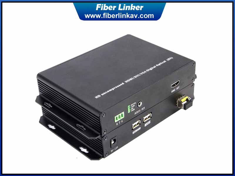 1080P HDMI Fiber Optic Extender with USB and RS232