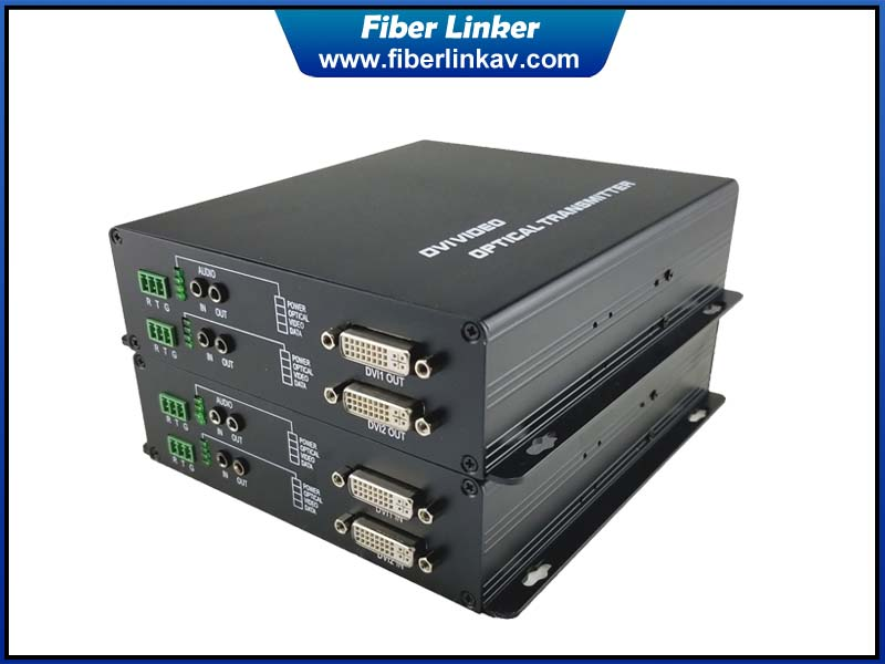 2-way uncompressed DVI Gear over single fiber optic cable