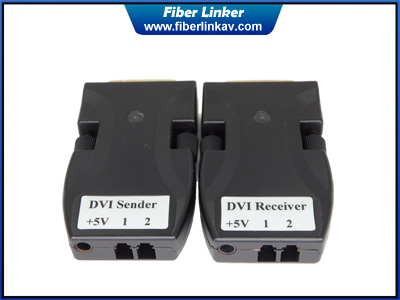 Rattler DVI Fiber Converter with 2 LC opitc cable
